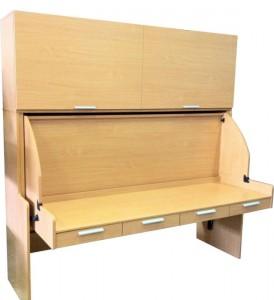 Встроенная мебель: шкаф трансформируется в стол